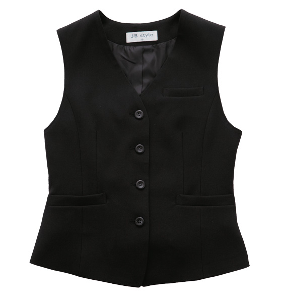 JBスタイル(ジャンブレ/旭産業) 事務服 「ベスト<ブラック>」